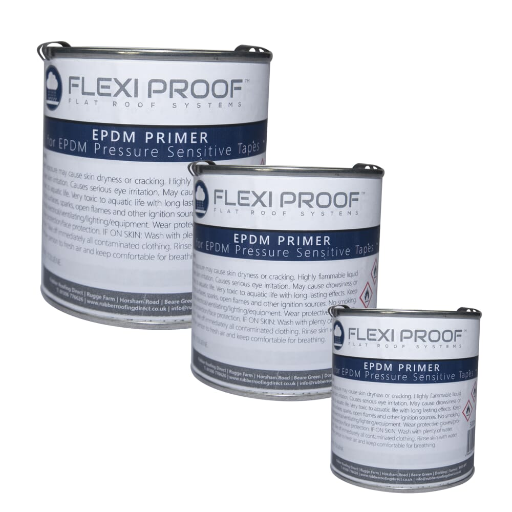 EPDM PRIMER FOR PRESSURE SENSITIVE TAPES FLEXIPROOF EPDM RUBBER ROOFING