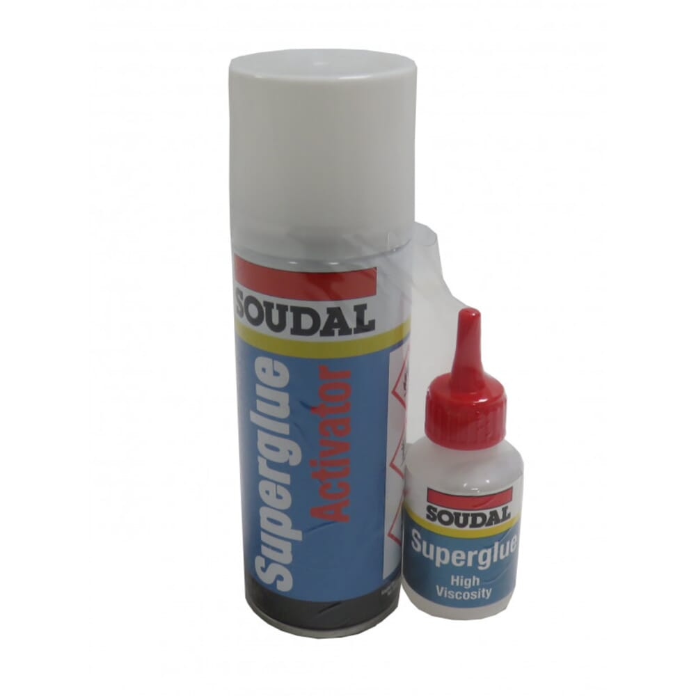 SOUDAL MITRE KIT HIGH VISCOSITY SUPERGLUE