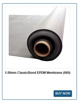 1.50mm ClassicBond EPDM rubber roofing membrane