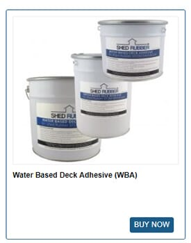 Buy Shed Rubber water based deck adhesive to fix your shed