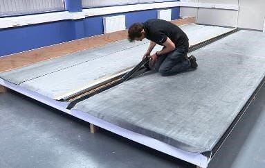 apply seam tape to epdm membrane sheets