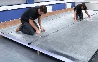 overlap and pressure roll epdm membrane sheets