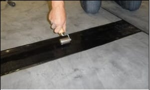 cover tape applied to epdm rubber roofing