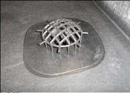 install leaf grate to epdm outlet