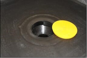 110mm high capacity outlet overlayed with epdm membrane
