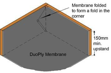 membrane folded to form