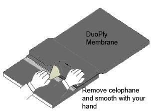 remove celophane and smooth with your hand