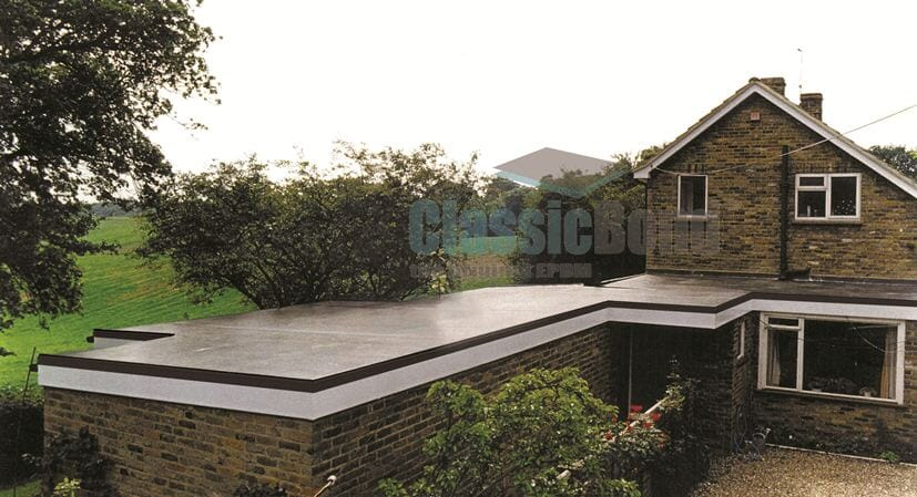 Extension roof with the Classicbond EPDM one piece diy rubber roofing membrane for flat roofs