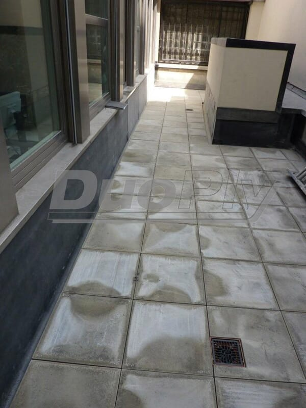 Balcony flooring with EPDM Rubber Roofing Membrane